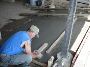 Jimmy working concrete