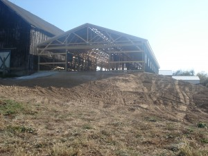 Front of the New Barn