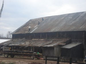 Demo of barn