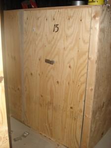 Front of tack locker