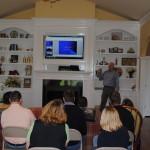Patrick giving presentation